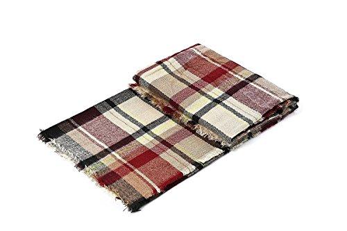 Women's Fall Winter Scarf Classic Tassel Plaid Scarf Warm Soft Chunky Large Blanket Wrap Shawl Scarves by Urban Virgin (Image #3)