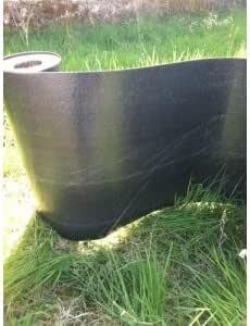 Barrera de ra/íz // Barrera de rizoma negro fuerza: 1 mm 25 Metros Negro altura: 60 cm