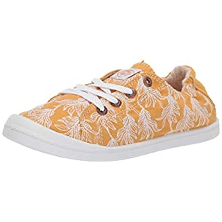 Roxy Women's Bayshore Slip On Sneaker Shoe, Mustard, 6 Medium US