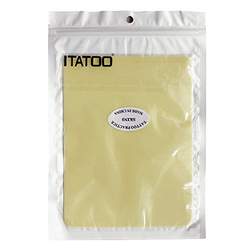 ITATOO 10pcs Double Sizes Blank Thick Tattoo Practice Skin for Beginners and Experienced Artists 7.5 x 5.7 Inches ()