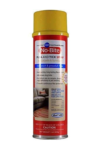 Durvet No Bite IGR Flea and Tick Spray, 16 Ounces, for Carpets and Furniture