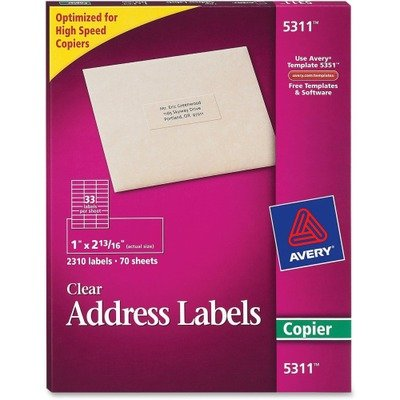 amazon com avery 5311 clear copier labels self adhesive 1amp