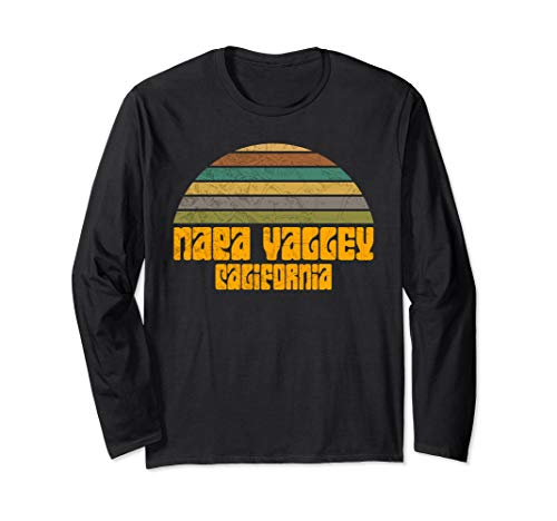 RETRO VINTAGE 70s 80s STYLE NAPA VALLEY CA Distressed Long Sleeve T-Shirt]()
