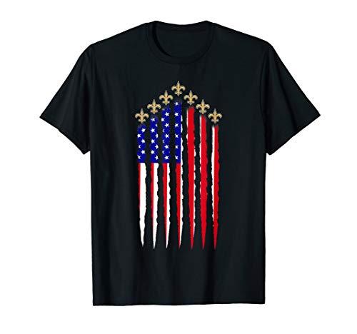 Saints American Flag New Orleans shirts Football 4th