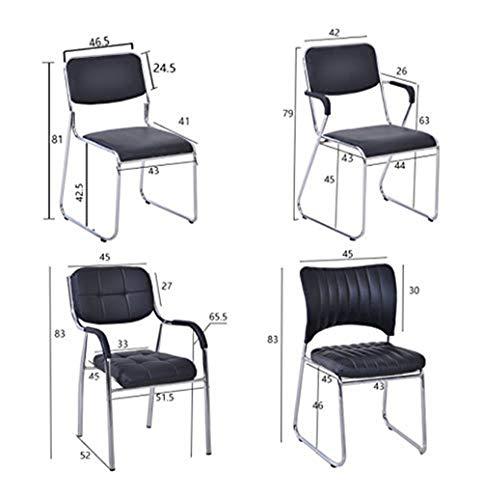 Kontorsstol personalstol mottagningsstol hushåll lätt att rengöra datorstol lärande stol GMING (färg: Grön)