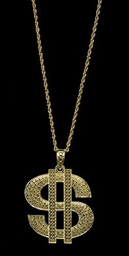 Loftus International Jumbo Gangsta Dollar Sign Necklace, Gold, One Size by Loftus International (Necklace Dollar Sign Jumbo)