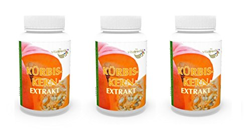 3 Pack Pumpkin seed extract 400mg 300 Capsules German pharmacy production