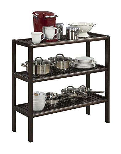 New Ridge Home Goods Abingdon Solid Birch Wood 3 Shelf Console, Large, Espresso by New Ridge Home Goods (Image #2)