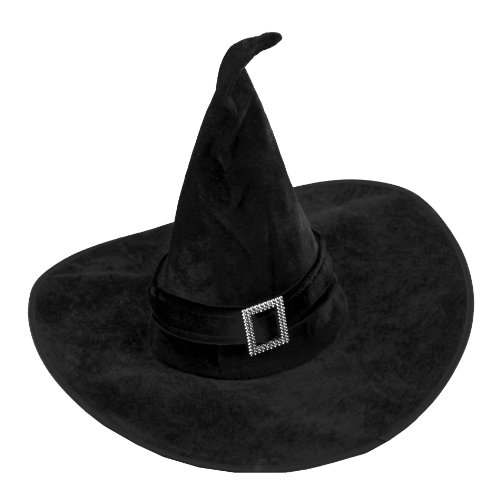 AVOLUTION Black Witch Hat Wicked Fancy Dress Up Halloween Costume