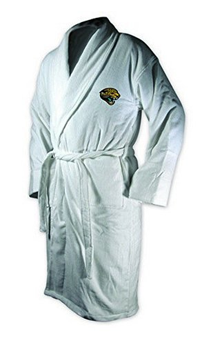 McArthur Sports Jacksonville Jaguars Team Logo Embroidered Bath Robe One Size Fits -