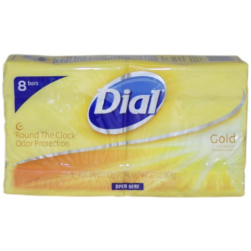 Dial Bar Gold Antibacterial Deodorant Soap, 4 oz ea 8 ct