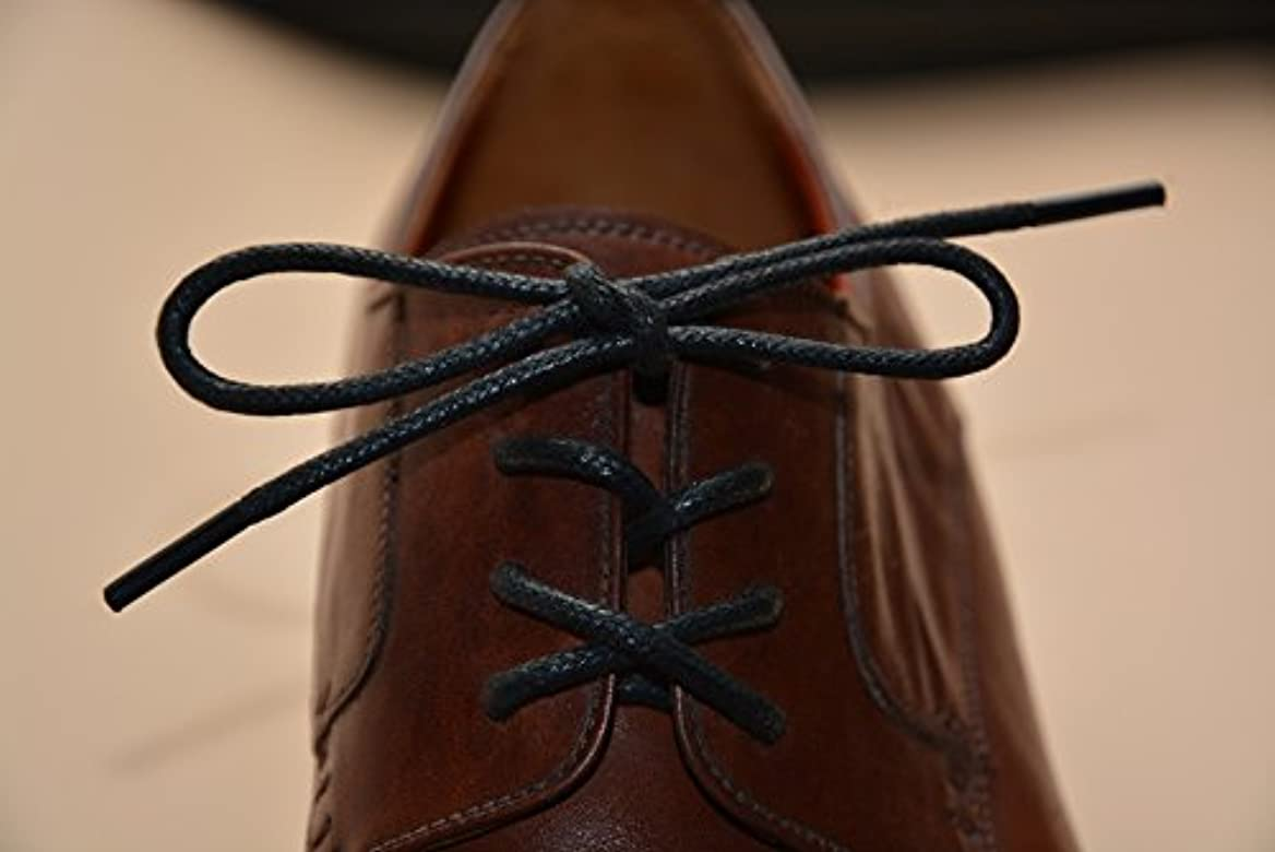 """Black 120cm Round Wax Waxed Cotton Shoe Work Boot Cord Dress Laces 47/"""" 5//6 Eyes"""