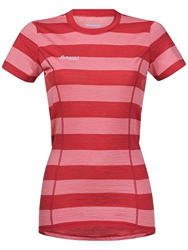 Bergans Soleie W Camiseta de lana merina palered/palecoral striped