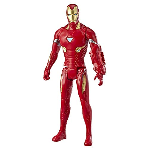 Avengers Marvel Endgame Titan Hero Series Iron Man 12'-Scale Super Hero Action Figure Toy with Titan Hero Power Fx Port
