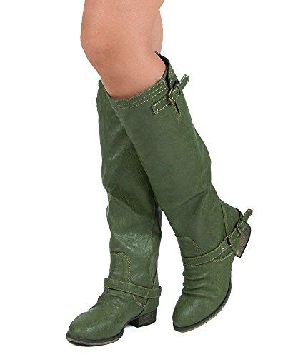 Breckelles Outlaw-81 Ridestøvler Militærgrønn-11