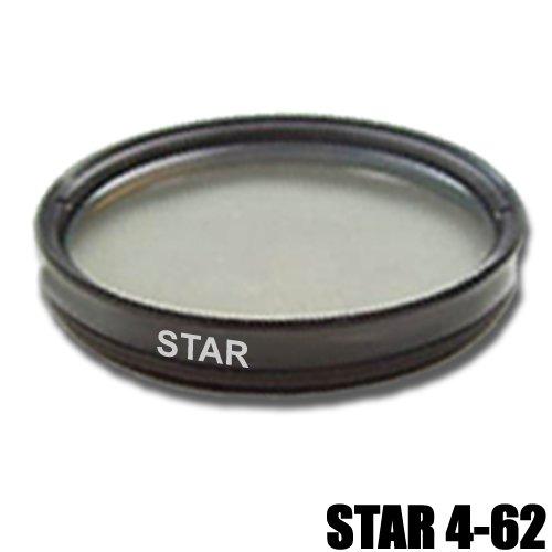 DynaSun 62mm Slim 4 Point Star Light Flare Cross Filter for Canon, Nikon, Pentax, Olympus, Samsung, Sony, Panasonic, Fujifilm Camera