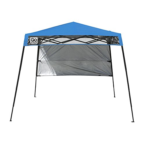 Quik Shade GO Hybrid Compact Slant Leg Backpack Canopy, Blue, 7 x 7-Foot