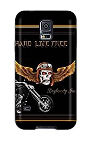 Defender Case With Nice Appearance (ride Hard Live Free) For Galaxy S5 by icecream design