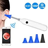BlueFire Upgraded 1080P HD Wireless Ear Otoscope Digital WiFi Ear Scope IP68 Waterproof Ear Inspection Camera Ear Cleaning Endoscope with 6 Adjustable LED Lights for IOS and Android Smartphones,Tablet