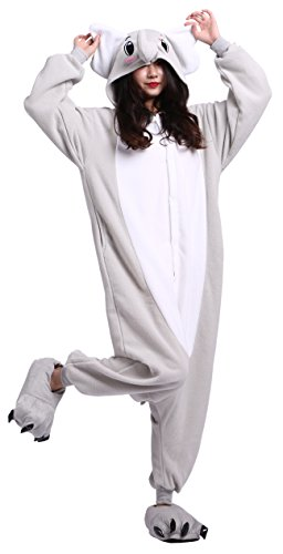 CuteOn Anime Cartoon Onesie Adult Pajamas Cosplay Costumes Animal Outfit Gray Elephant XL for Height 178-187CM