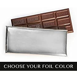 Silver Foil 24 Pack Candy Bars Hershey's Milk Chocolate 1.55oz - Free Cold Packaging