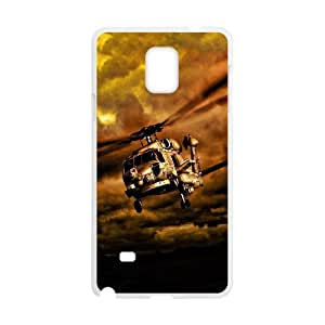 Samsung Galaxy Note 4 Cell Phone Case White War Helicopters In Cloudy Sky Nfwov