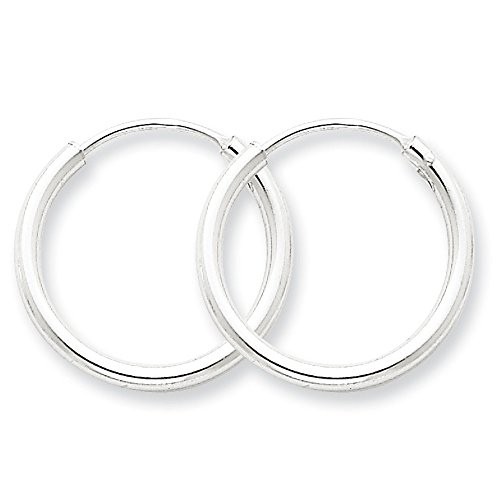 Designs by Nathan Endless 925 Silver Seamless Tube Hoop Earrings 15 Styles and Sizes 2mm x 20mm by Designs by Nathan