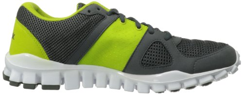 Reebok Men's RealFlex Advance Training Shoe,Grey/Green/White/Black,9 M US