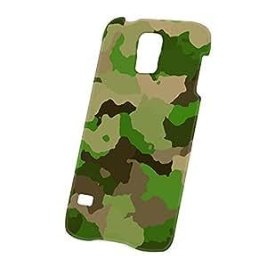 Case Fun Samsung Galaxy S5 (i9600) Case - Ultra Slim Version - Full Wrap Edge to Edge Print - Light Green Camouflage