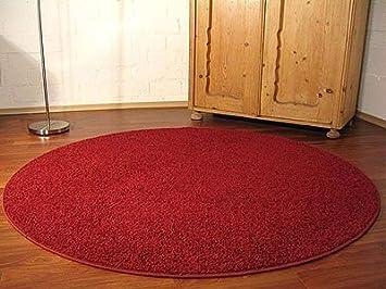 Teppich hochflor shaggy cottage rot rund in größen größe cm
