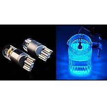 TRUST 2-pack, high power Blue waterproof 9W COB lens LED Bulbs for Malibu Landscape Lighting SMD T10 W5W 168 194 501 Wedge 12V-24V
