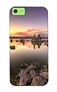 New Snap-on Rightcorner Skin Case Cover Compatible With Iphone 5c- Nature Mountain Forest Landscape Fog Lake