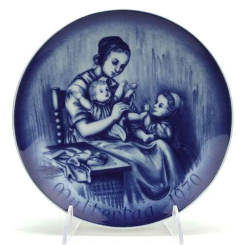 Mother's Day by Bareuther, Porcelain Decorators Plate