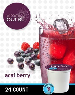 Vitamin Burst Acai Berry Vitamin Water (5 Boxes of 24 K-Cups)