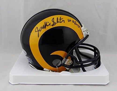 Jackie Slater Autographed St Louis Rams Mini Helmet w/ HOF - Beckett Auth Black