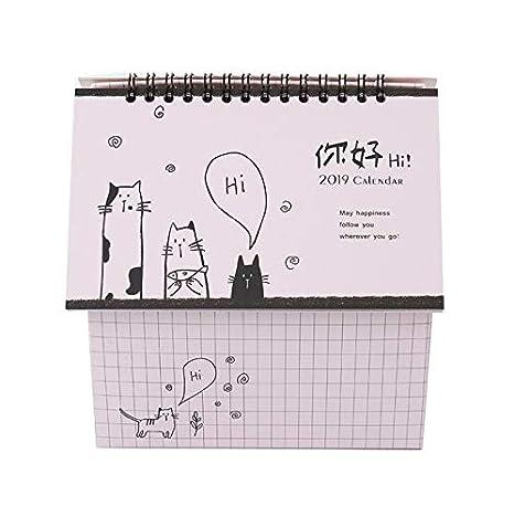 Lianji 2019 - Calendario de mesa para el hogar, calendario y ...