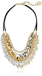 Jessica Simpson Multi-Row Shaky Collar Strand Necklace, 16''