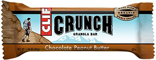 CLIF CRUNCH - Granola Bar - Chocolate Peanut Butter, 1.48 oz,  5 Two-Bar Pouches