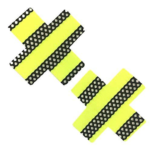 Price comparison product image Neva Nude Yellow UV Mesh X Factor Nipztix Pasties Nipple Covers