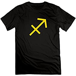 Sagittarius Astrology Zodiac Signs Archer Tshirts Black For Man's