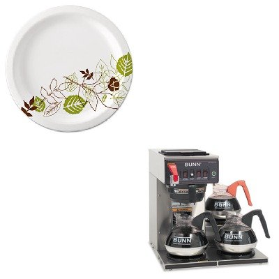 KITBUNCWTF153LPDXEUX9WSPK - Value Kit - Bunn Coffee Commercially Rated Automatic Brewer (BUNCWTF153LP) and Dixie Pathways Mediumweight Paper Plates (DXEUX9WSPK)
