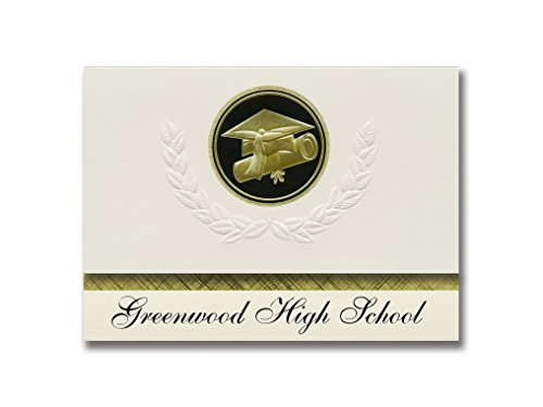 Signature Announcements Greenwood High School (Bowling Green, KY) Graduation Announcements, Presidential style, Elite package of 25 Cap & Diploma Seal. Black & ()