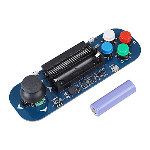 ASHATA Gamepad Expansion Board for BBC Micro: bit, Dual Channel Analog Output Micro Bit Expansion Buzzer,Game Music Gamepad Expansion Module with 4 Colorful Buttons and 2 Sided Keys