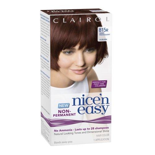 (Clairol Nice 'N Easy Non-Permanent Hair Color 815r Deep Mahogany Auburn 1)