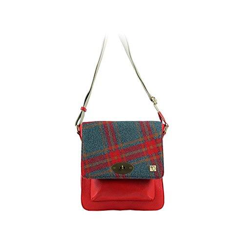 Grey Bag amp; Messenger Red Tweed WAZgXqFxYn