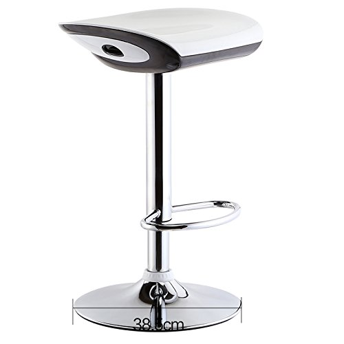 ABS paint, hidden lift, bar stool, backrest bar chairs, simple bar stool ( Color : White , Style : B ) by Xin-stool