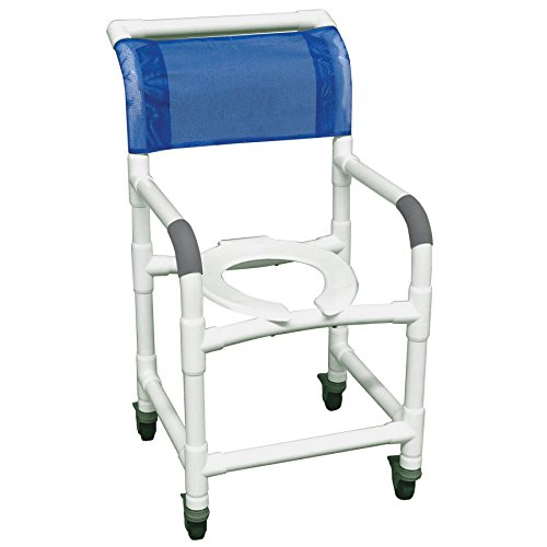 (MJM International 118-3TL Standard Shower Chair with Total Lock Casters, 300 oz Capacity, 40.5