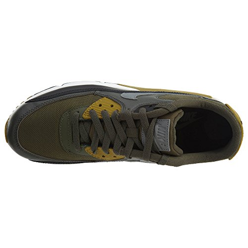 Essential 607 black 10 Red Max Men's Nike Air Grey 90 537384 sequoia Size znxqInaTP