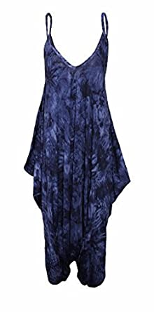 86bf5b69ba03 H&F Girls Malaika Women Ladies Aztec Leopard Multicolour Print Sleeveless  Cami Baggy Strapy Romper Boho Harem Lagenlook Playsuit Jumpsuit Top Dress  Plus ...