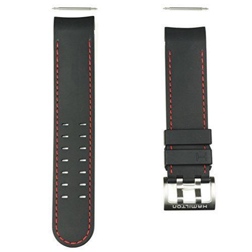 Authentic Hamilton Khaki X-Wind 22mm Black Rubber Band Strap for Watch Model H77646833